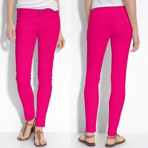 Current Elliott The Ankle Skinny in Bright Rose